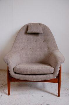 Ib Kofod Larsen; Teak Easy Chair, 1950s.
