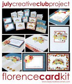 Lisa's Creative Corner: July Project Kit - Florence Card Kit