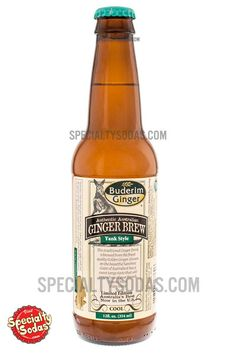 Buderim Ginger Authentic Australian Yank Style Cool Ginger Brew 12oz Glass Bottle