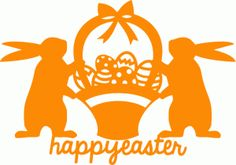 Silhouette Online Store - View Design #40611: happy easter decoration