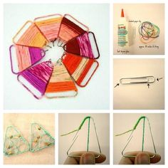 32. Paperclip Earrings | 32 Awesome No-Knit DIY Yarn Projects