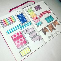 Collection de washi tape pour bullet journal
