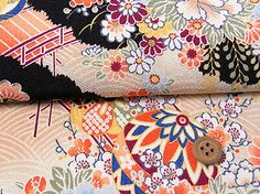 Japanese chirimen crepe fabrics - polyester