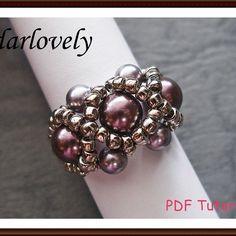 Swarovski Purple Pearl Ring | JewelryLessons.com
