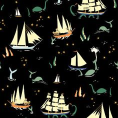Emily Black Apple's Saltwater Fabric Collection
