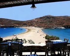 Kolona beach on Kythnos island, Greece Dream Vacations, Vacation Spots, Porches, Places To Travel, Places To See, Places Around The World, Around The Worlds, Myconos, Paradise On Earth