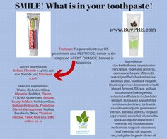 Colgate Total Toothpaste vs. PURE Haven Essentials - What is in your toothpaste? Got Triclosan, Propylene Glycol, Sodium Lauryl  Sulfate, ect   www.BuyPHE.com