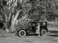 "San Francisco circa 1920. ""Standard Eight sedan at Golden Gate Park."" http://www.shorpy.com/node/21612 Christopher Helin"