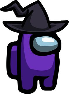 Among Us - Purple Witch Hat PNG 01 - Imagens PNG
