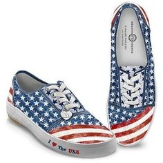 4th of July Shoes Dressing for any holiday is always fun, but these 4th of July shoes are truly a blast to wear!