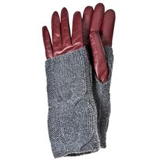 Equal parts uptown and downtown. Cole Haan Leather and Cashmere Gloves