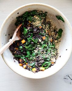 black rice salad w/ sesame ginger dressing from what's cooking good looking