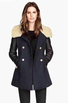 Abrigo cuello pelo sintético   H&M