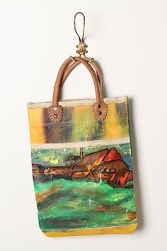 Love the idea of turning an old canvas into a bag but hate the idea of destroying a painting