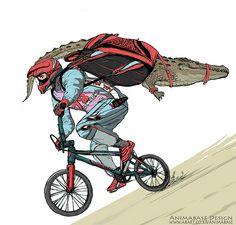 Extreme sports (illustration by Animabase Design)