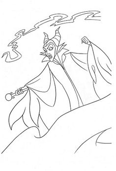 Dl sleeping beauty 39 s castle sleeping beauty for Coloring pages disney villains
