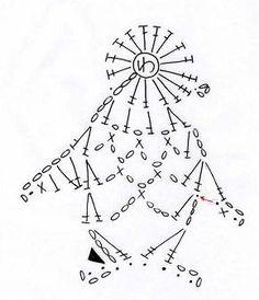Penguin applique crochet diagram.