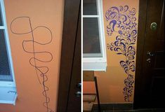 Creative Kid Draws On Wall, More Creative Mom Fixes It