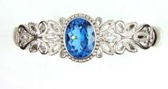 Blue Topaz and Sterling Cuff