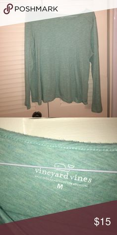 Vineyard vines coming green t shirt Vineyard vines mint green heathered t shirt. NOT A WHALE T. Just a plain mint shirt. EUC. Make an offer Vineyard Vines Tops Tees - Long Sleeve