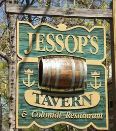 Jessup Tavern sign in new Castle, Delaware as seen in American Public House Review