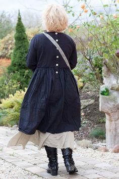 Ewa i Walla Kleid Cotton Black 55536 AW17 | Ankleiderei | Online-Shop für skandinavische & französische Mode