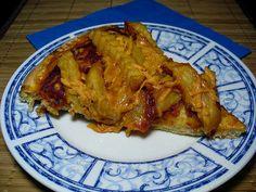 Vegan french fry pizza, Bertie will love this!