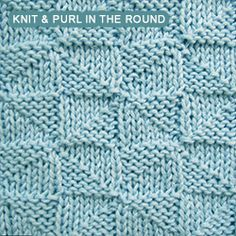 [Knit and Purl in the round] The stitch pattern is made up of Pythagorean right triangles. Both sides look great.