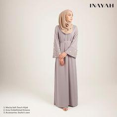 Elegant Muslim Outfits Ideas for Eid Mubarak Abaya Fashion, Modest Fashion, Fashion Outfits, Fashion Clothes, Muslim Dress, Hijab Dress, Hijab Outfit, Modest Dresses, Pretty Dresses