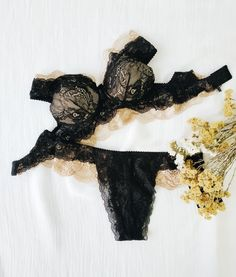 Items similar to only / JULIE BLACK and NUDE lingerie set / plus size lingerie / lingerie sale / pinup lingerie / vintage lingerie on Etsy Lingerie For Sale, Lace Lingerie Set, Plus Size Lingerie, Vintage Lingerie, Black Lace Lingerie, How To Feel Beautiful, Dusty Pink, Bra Sizes, Pinup
