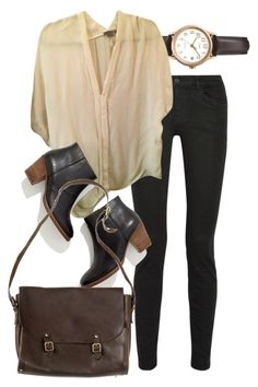 Untitled #6750 by nikka-phillips on Polyvore featuring Vince, Proenza Schouler, Madewell, nette'. leather goods. and Timex
