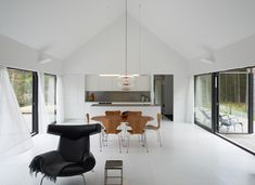 Interior from Villa Wallin by Swedish studio Erik Andersson Architects on an island in the Stockholm archipelago.