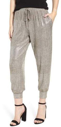 BISHOP AND YOUNG Bishop + Young Metallic Jogger Pants Jogger Pants, Joggers, Harem Pants, Athletic Pants, Parachute Pants, Nordstrom, Workout, Skirts, Metallic