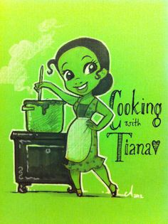 Cooking with Tiana :) by Amy Mebberson