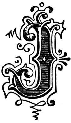 J, Ornamental letter
