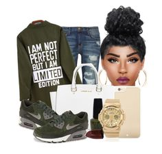 """""""Limited Edition."""" by noieelovesyou ❤ liked on Polyvore featuring Current/Elliott, Michael Kors, NIKE, OPI, Kate Spade, G-Shock, Lipstick Queen and Lana"""