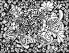 Coloring Pages Zinnia : Line artwork of a blooming zinnia flower. artwork contains a