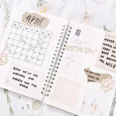 """@lycheestudy on Instagram: """"My month spread for april✨ (I put it on my duvet for a """"springy"""" feel) I sort of want a new bullet…"""""""