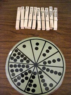 Number Wheel-modifications? Think about ten frames or possibly using with tally marks and numbers