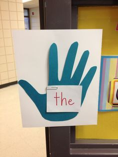 High five the sight word on your way out the door. Via Red Words sight word…