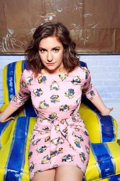 Lena Dunham. #creativeinspiration   I also love her hair in this picture.