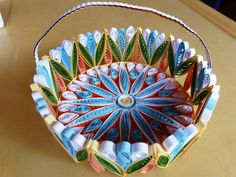 Picture of A Colorful Quilled Gift Basket