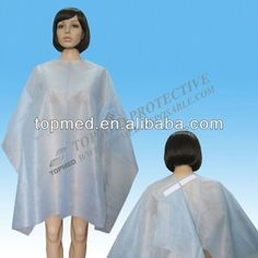 disposable nonwoven hairdressing cape,hair cutting cape,hair salon cape