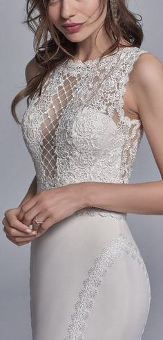 Unique and sexy details on Barrington bodice. See more at sotteroandmidgley.com <3