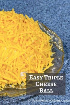 Looking for an easy appetizer that can be made ahead of time and everyone will love? This triple cheese ball recipe is perfect! #entertainingdiva #appetizers #fingerfoods #superbowlparty #holidaysandevents