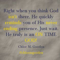 On Time God