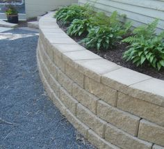 I'm so excited that  I will have some of theses Retaining Walls all around my House, Flower Beds and Fence. Would love to have some around Big Oak  out in Front to make a Island Flower Bed around that Tree. Can't wait to have theses all thru out my Yards so that I can make several Different Raised Flower Beds! Once its all done My Yards will look  Really Good! So thrilled that me and the Hubby got our Process going!
