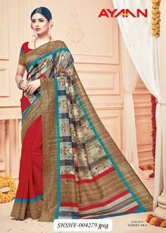 430a97f5e1 SHSHF: New Catalog Launch: AYAAN-VIPUL!! Heavy Designer Printed Saree!