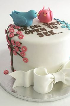 Gender Reveal Cake Ideas To Amaze Everyone - Tulamama Simple Gender Reveal, Twin Gender Reveal, Gender Reveal Games, Gender Reveal Decorations, Baby Gender Reveal Party, Baby Reveal Cakes, Gender Reveal Cupcakes, Cake Quotes, Cake Sayings