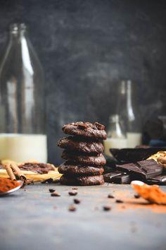 Spicy Chocolate Chili Java Chip Fudge Cookies